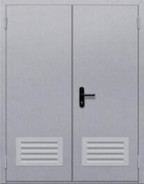 Противопожарная дверь Двупольная глухая с решеткой