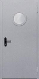 Противопожарная дверь Однопольная с круглым стеклом
