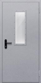 Противопожарная дверь Однопольная с прямоугольным стеклом