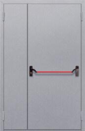 Противопожарная дверь Полуторная глухая с антипаникой