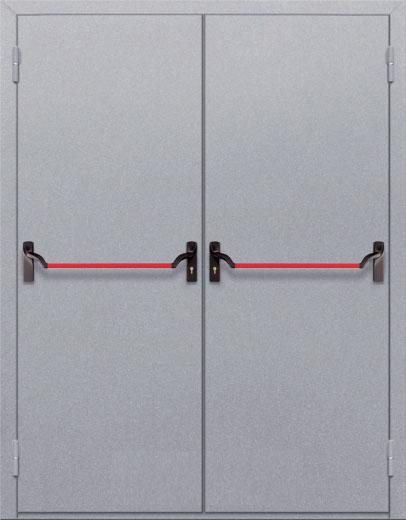 Противопожарная двупольная глухая дверь ДПМ 02 EI60 с антипаникой