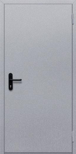 Противопожарная однопольная глухая дверь