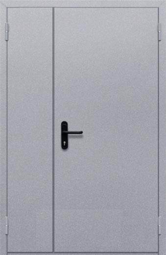 Противопожарная полуторная глухая дверь ДПМ 02 EI60