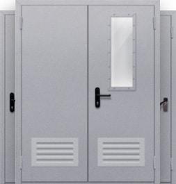 Огнестойкие металлические двухстворчатые двери EI-60, EI-30